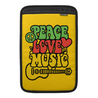 Rasta  Peace-Love-Music MacBook Sleeve