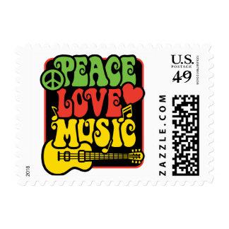 Rasta PEACE-LOVE-MUSIC Postage