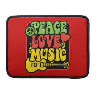 Rasta Peace Love Music Sleeve For MacBook Pro
