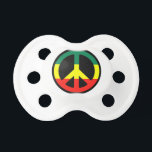 """Rasta Peace Sign Baby Pacifier<br><div class=""""desc"""">Let your baby sport this rasta baby pacifier!!</div>"""