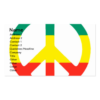 Rasta Peace Sign Double-Sided Standard Business Cards (Pack Of 100)