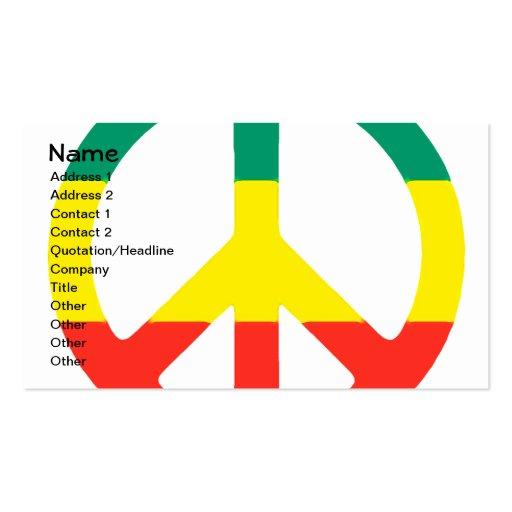 Rasta Peace Sign Business Card Templates
