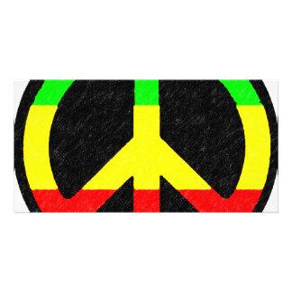 Rasta Peace-Sign Card