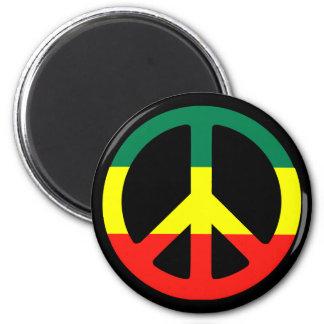 rasta peace sign magnets