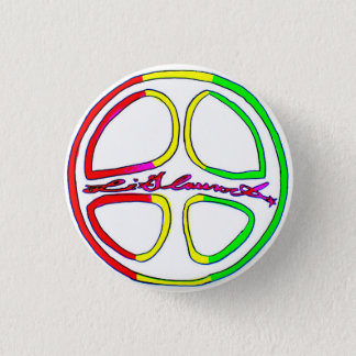 Rasta Peace Sign Pinback Button