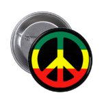 Rasta Peace Symbol 2 Inch Round Button