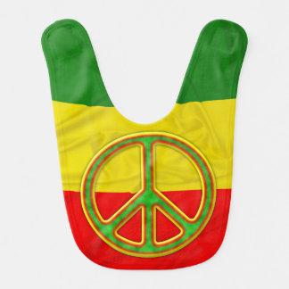 Rasta Peace Symbol Baby Bibs