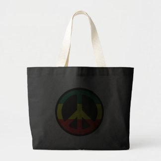 Rasta Peace Symbol Canvas Bags