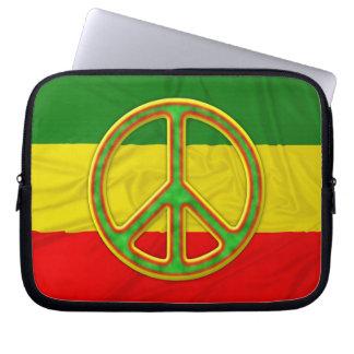 Rasta Peace Symbol Computer Sleeve
