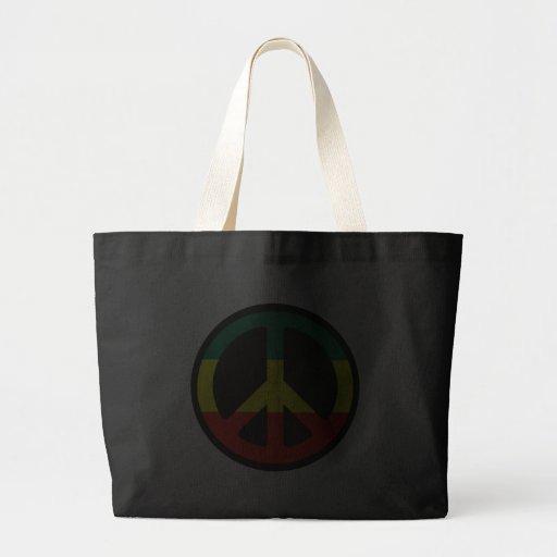 Rasta Peace Symbol Jumbo Tote Bag