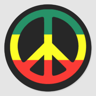 rasta_peace_symbol_l classic round sticker