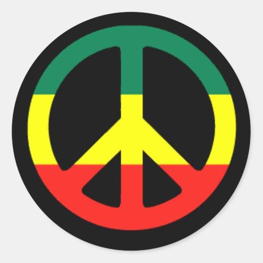rasta_peace_symbol_l round sticker