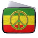 Rasta Peace Symbol Laptop Sleeve