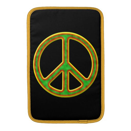 Rasta Peace Symbol MacBook Air Sleeve
