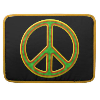 Rasta Peace Symbol Sleeves For MacBooks