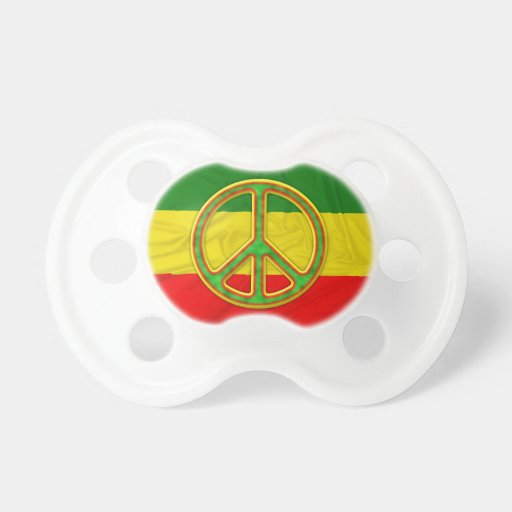 Rasta Peace Symbol Baby Pacifiers
