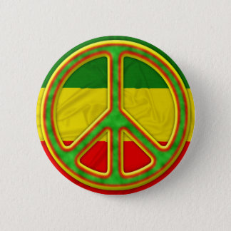 Rasta Peace Symbol Pinback Button