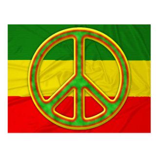 Rasta Peace Symbol Post Cards