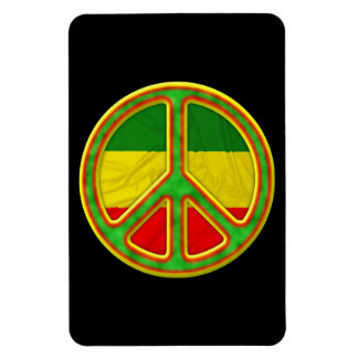 Rasta Peace Symbol Rectangular Photo Magnet
