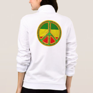 Rasta Peace Symbol Printed Jackets