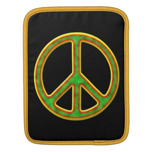 Rasta Peace Symbol Sleeves For iPads