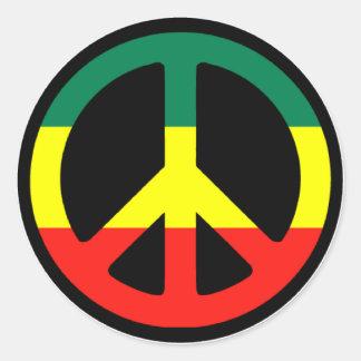 Rasta Peace Symbol Stickers