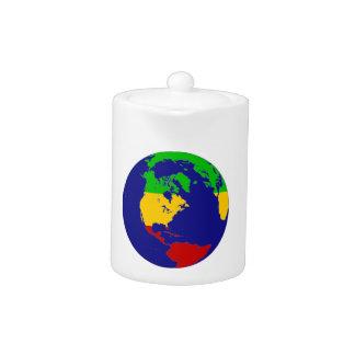 Rasta Planet Earth Teapot
