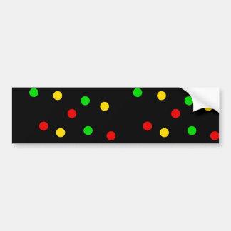 Rasta Polka Dots on Black Bumper Sticker