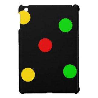 Rasta Polka Dots on Black iPad Mini Cover