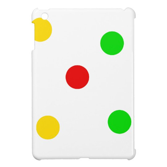 Rasta Polka Dots on White iPad Mini Cases