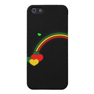 Rasta Rainbow and Hearts iPhone SE/5/5s Case