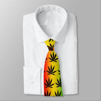 Rasta Rastafarian Reggae Jamaica Leaf Neck Tie