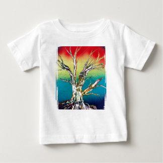 Rasta red yellow green deadwood tree painting baby T-Shirt