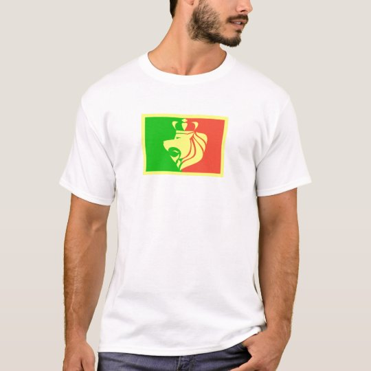 Rasta Reggae Flag with Crowned Lion T-Shirt