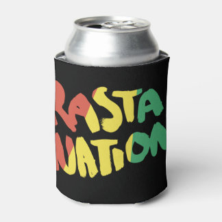 rasta reggae graffiti flag can cooler