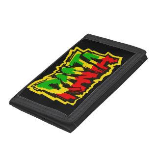 Rasta reggae graffiti trifold wallet