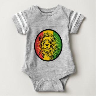 rasta reggae lion flag baby bodysuit