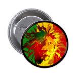 rasta reggae lion flag button