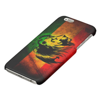 rasta reggae lion flag glossy iPhone 6 case