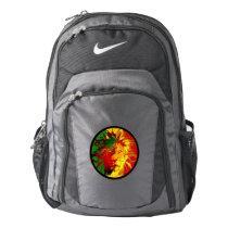 rasta reggae lion flag nike backpack