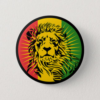 rasta reggae lion flag pinback button