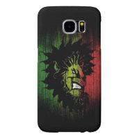 rasta reggae lion flag samsung galaxy s6 case