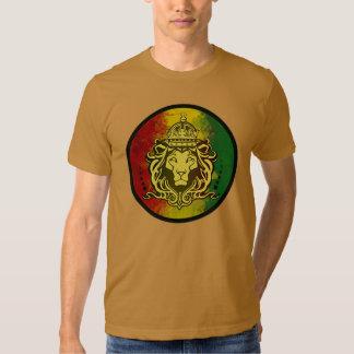 rasta reggae lion flag t shirt