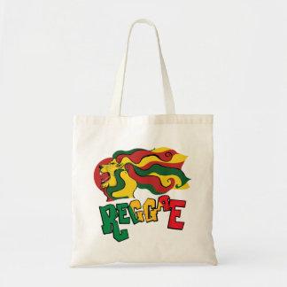 rasta reggae lion flag tote bag