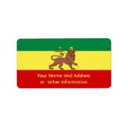 Rasta Reggae Lion of Judah Address Label at Zazzle