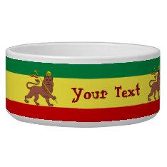 Rasta Reggae Lion Of Judah Bowl at Zazzle