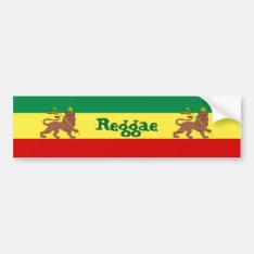 Rasta Reggae Lion Of Judah Bumper Sticker at Zazzle