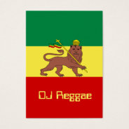 Rasta Reggae Lion Of Judah Business Card at Zazzle