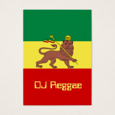 Rasta Reggae Lion Of Judah Business Card at Zazzle