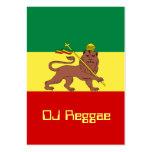 Rasta Reggae Lion of Judah Business Card Templates